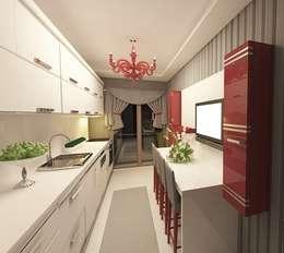 modern Kitchen by Meral Akçay Konsept ve Mimarlık