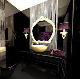 Meral Akçay Konsept ve Mimarlık – Feng Shui Uygulama: modern tarz Banyo