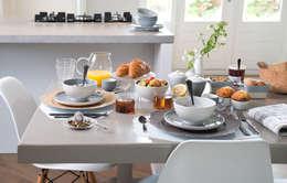 Ontbijtmoment in Basic stijl - voor: moderne Eetkamer door Bitossi Home