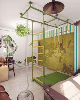 Бирюзовое очарование: Детские комнаты в . Автор – Студия дизайна интерьера 'Золотое сечение'