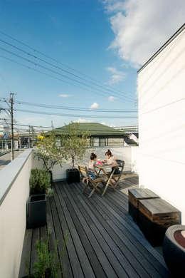 Terrazza in stile  di H建築スタジオ