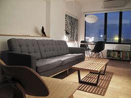 modern Living room by OneByNine