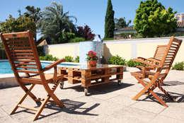 ECOdECO Mobiliario: rustik tarz tarz Bahçe
