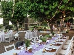 Jardines de estilo mediterraneo por GARCIA HERMANOS