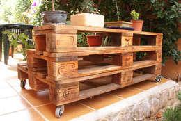 Jardines de estilo rústico por ECOdECO Mobiliario