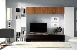 Livings de estilo moderno por Muebles Madrid decoración