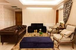 غرفة المعيشة تنفيذ Apê 102 Arquitetura