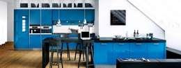 Rino Blue Gloss Modern Kitchen: modern Kitchen by Belvoir Interiors Ltd