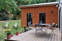 Maison Ossature bois à Oullins: Terrasse de style  par BFG CADRE DE VIE
