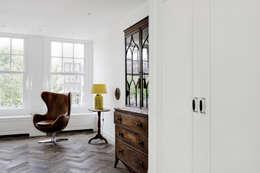 Renovatie appartement te Amsterdam: rustieke & brocante Woonkamer door Kodde Architecten bna