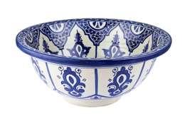 Reza - Arabska umywalka ceramiczna z Maroka : styl , w kategorii Łazienka zaprojektowany przez Kolory Maroka