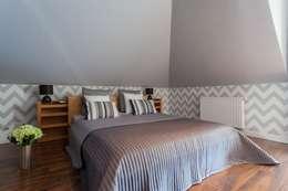 Dom z Głębokiej, home staging: styl , w kategorii Sypialnia zaprojektowany przez Sceny Domowe