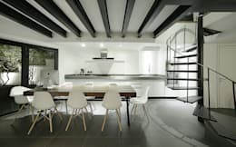 modern Dining room by OneByNine