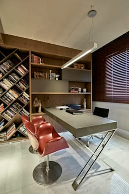 Office spaces & stores  by Gislene Lopes Arquitetura e Design de Interiores