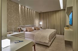 modern Bedroom تنفيذ Gislene Lopes Arquitetura e Design de Interiores