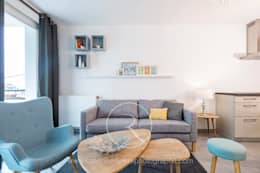 Salas de estilo escandinavo por Sandrine RIVIERE Photographie