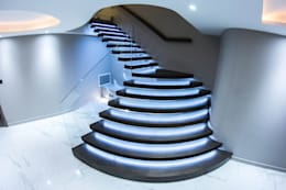 modern Corridor, hallway & stairs by Railing London Ltd