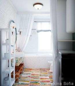 Проект санузла.: Ванные комнаты в . Автор – Девятайкина Софья ( АРТ-мастерская 'Stylishdesign')