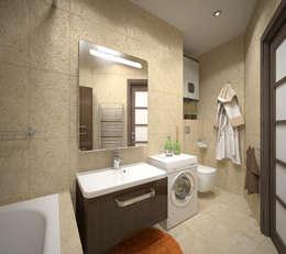 Квартира 65 кв.м. в Серебряных ключах: Ванные комнаты в . Автор – Студия дизайна Виктории Силаевой