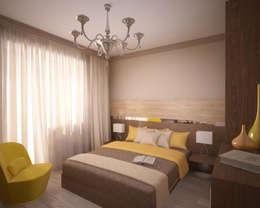 Квартира 65 кв.м. в Серебряных ключах: Спальни в . Автор – Студия дизайна Виктории Силаевой