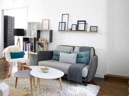 scandinavian Living room by Marion Lanoë Architecte d'Intérieur