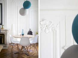 scandinavian Dining room by Marion Lanoë Architecte d'Intérieur