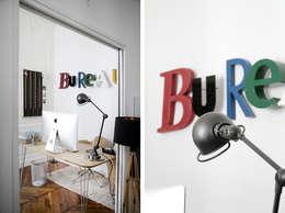 Aménagement et décoration d'un appartement à Lyon 01: Bureau de style de style Industriel par Marion Lanoë Architecte d'Intérieur