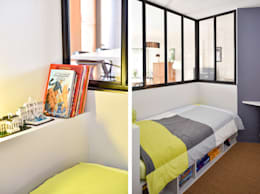 Projekty,  Pokój dziecięcy zaprojektowane przez Marion Lanoë Architecte d'Intérieur