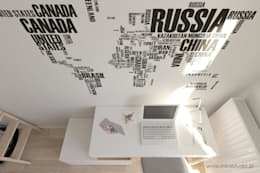 pokój nastolatki - Kraków, Grzegórzecka - wizualizacja: styl , w kategorii Pokój dziecięcy zaprojektowany przez MIRAI STUDIO