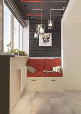 Современная квартира для молодой пары: Tерраса в . Автор – Katerina Butenko