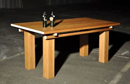 Houten tafel: klasieke Eetkamer door NokNok