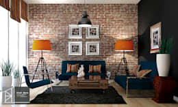 Bledi Skora Design: endüstriyel tarz tarz Oturma Odası