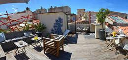 Toit terrasse à Marseille: Terrasse de style  par Slowgarden