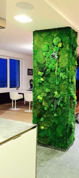 Mur Végétaux: Salle à manger de style de style eclectique par Green Mood