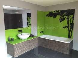 Projekty,  Łazienka zaprojektowane przez DIYSPLASHBACKS