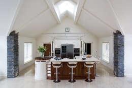 Walnut and Cream Kitchen: modern Kitchen by Designer Kitchen by Morgan