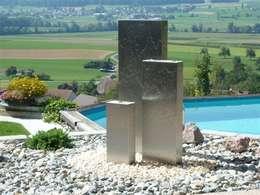 Moderne Gartenbrunnen