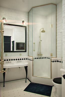 Апартаменты  для молодой пары в Москве: Ванные комнаты в . Автор – Anna Vladimirova