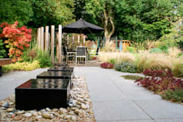 Contemporary Modern Family Garden: modern Garden by Rosemary Coldstream Garden Design Limited