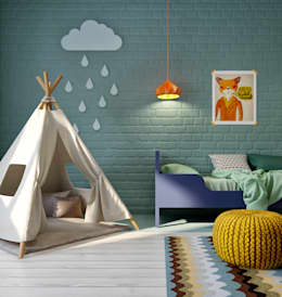 scandinavian Nursery/kid's room by INT2architecture