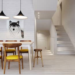 scandinavian Dining room by INT2architecture