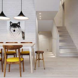 Salle à manger de style de style Scandinave par INT2architecture
