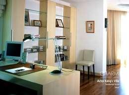 탤런트 강석우 씨 집: 참공간 디자인 연구소의  서재 & 사무실