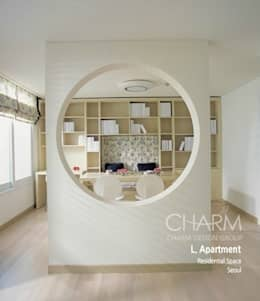 가족을 위한 L 아파트: 참공간 디자인 연구소의  서재 & 사무실