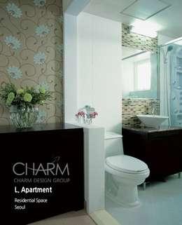 가족을 위한 L 아파트: 참공간 디자인 연구소의  화장실