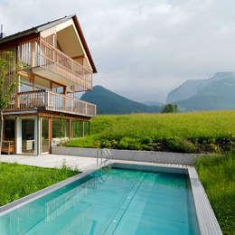 modern Pool by Hohensinn Architektur