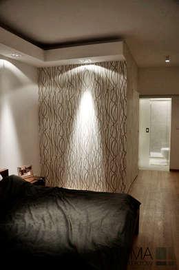 WARSAW ONE: styl , w kategorii Sypialnia zaprojektowany przez SUMA Architektów