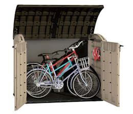 La utilidad de los armarios de exterior for Caseta para guardar bicis