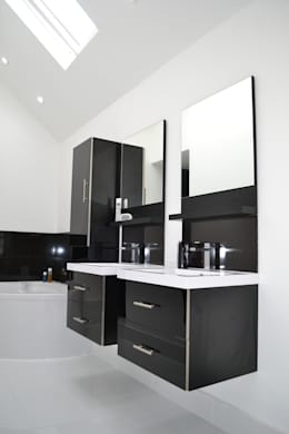 En-suite To Main Bathroom - As Built: modern Bathroom by Arc 3 Architects & Chartered Surveyors