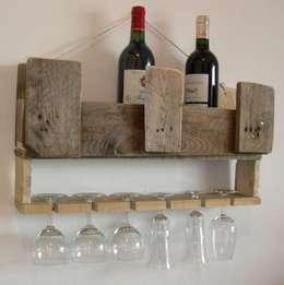 étagère bar en bois de palette: Cuisine de style de style Industriel par Bois flotté de Gibus